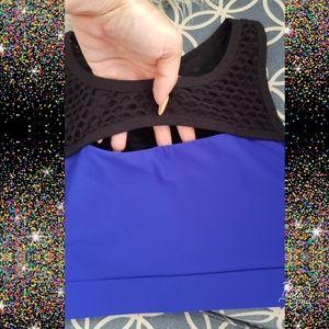 🔥Mesh sports bra sz xs work out running blue
